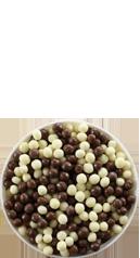 Simply Mini Milk, White & Plain Chocolate Coated Balls
