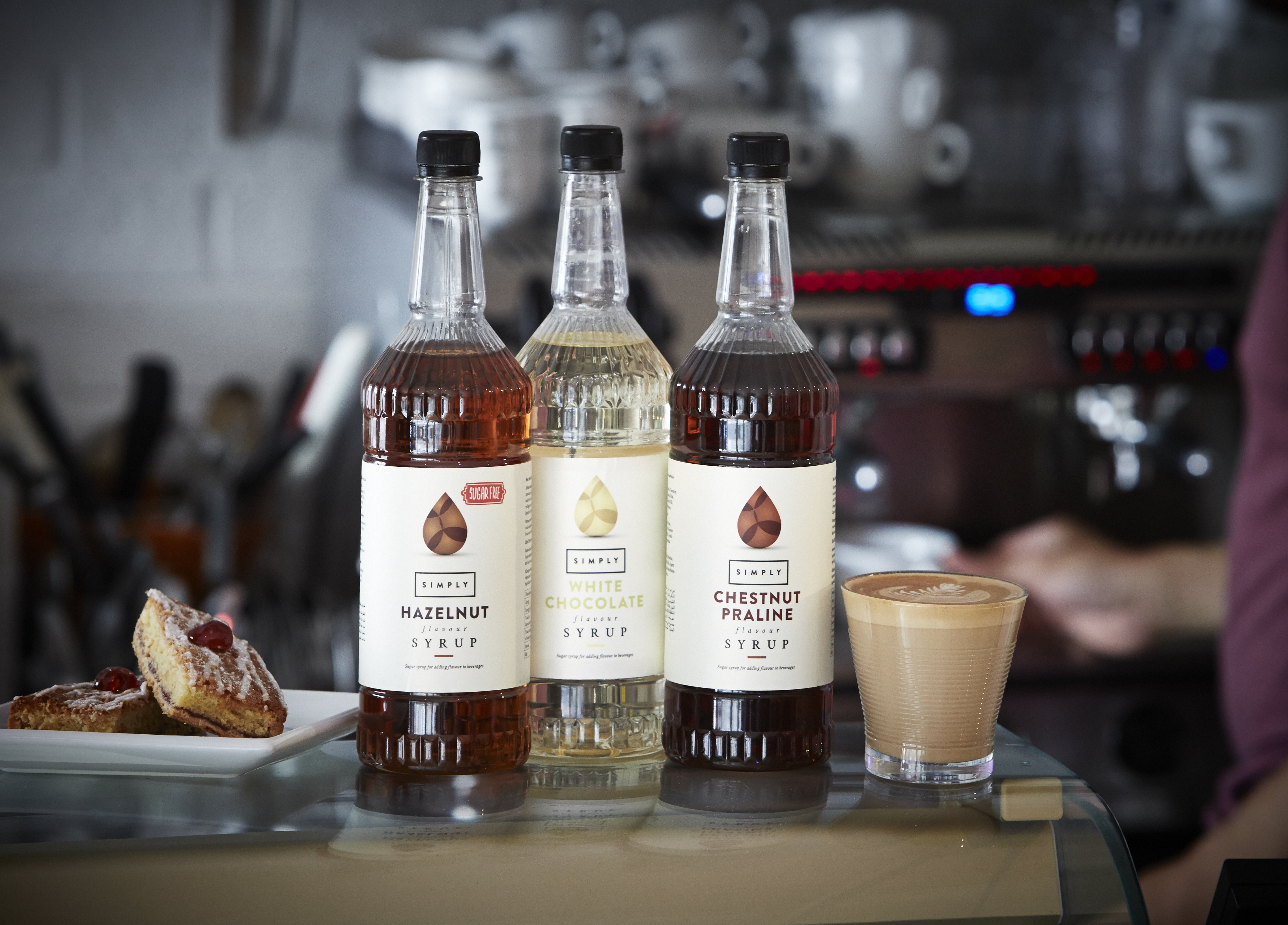 Flavoured Latte with Simply Syrups range