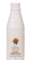 Simply Luxury Chocolate Topping Sauce With Hazelnut Flavouring
