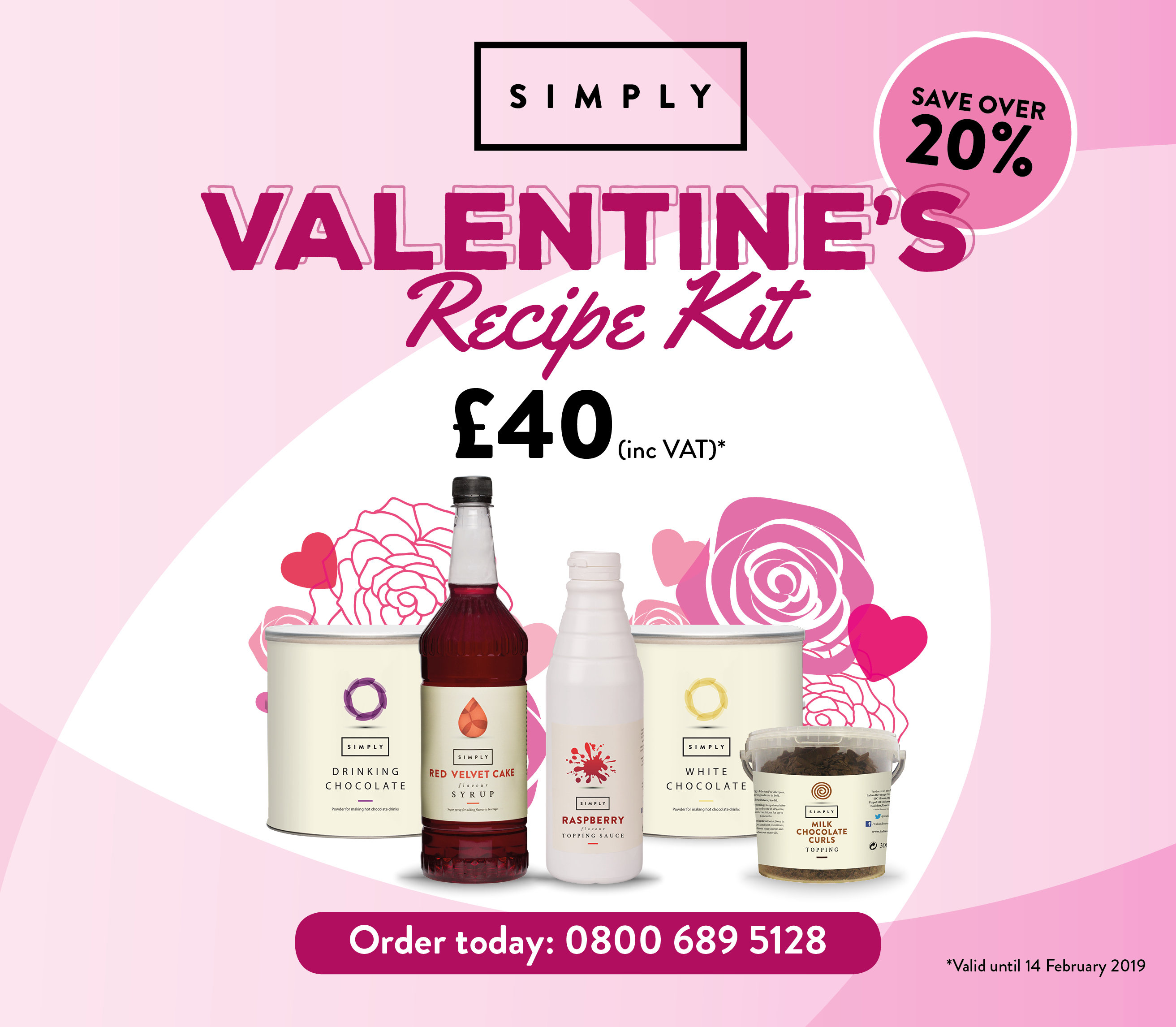 Valentines recipe kit