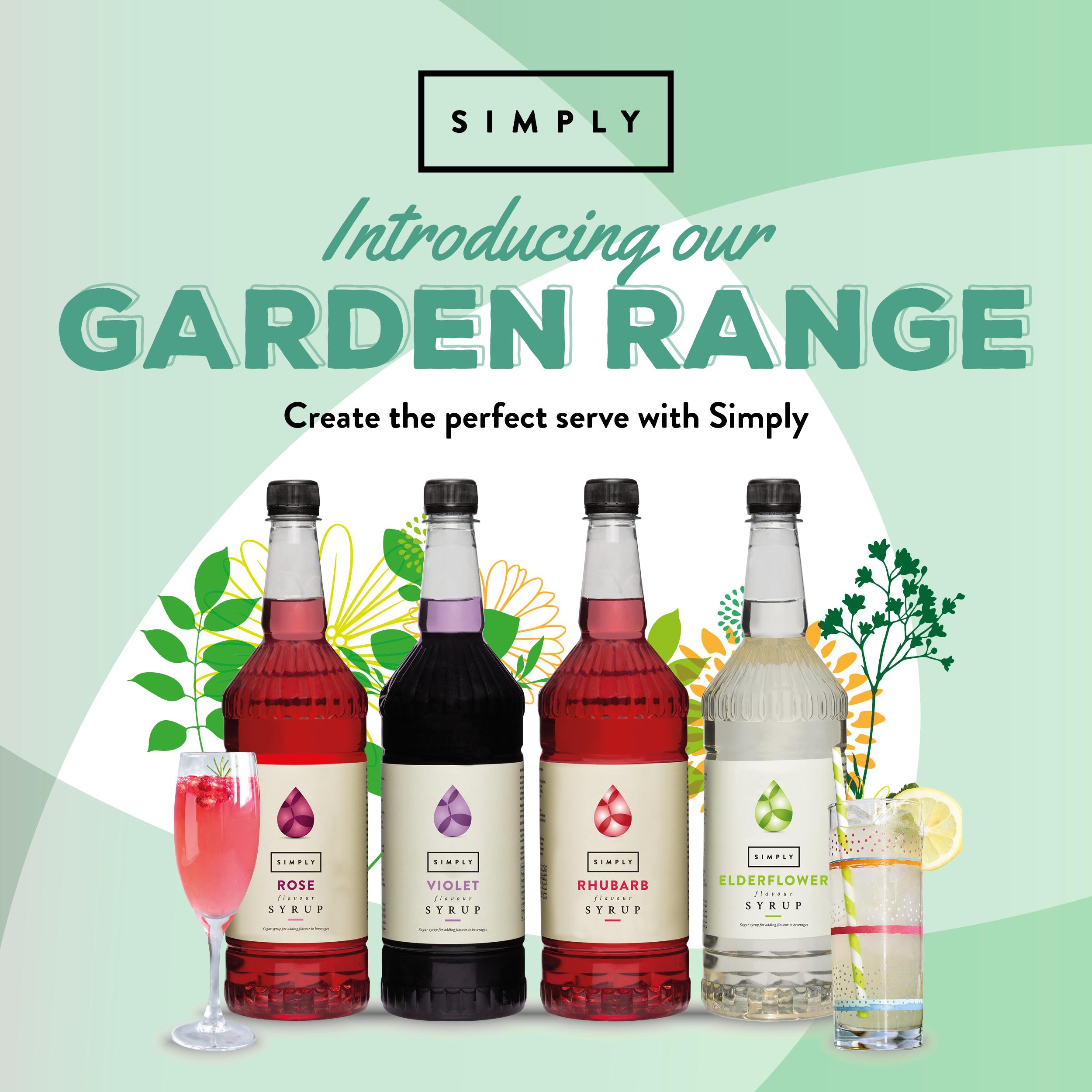 Simply Syrups Garden Range
