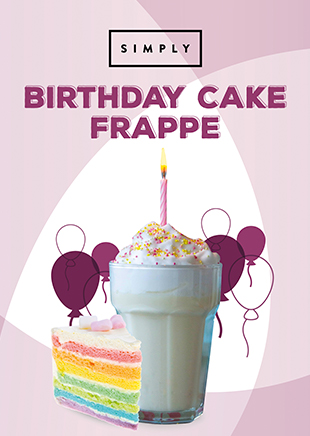 Birthday Cake Frappe Recipe