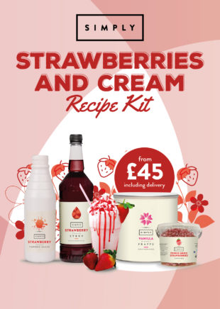 Strawberries and Cream Frappe Recipe Kit