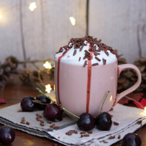Black Forest Hot Chocolate using Simply products