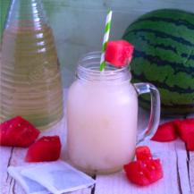 Watermelon Iced Green Tea Slushy blended