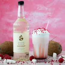 Coconut Raspberry Swirl Frappe